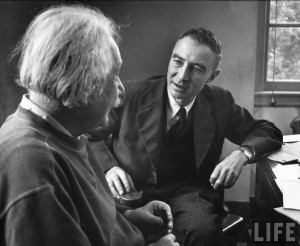 Einstein and Oppenheimer: Both men in their later years dismissed black holes as anomalies, unaware that they contained some of the deepest mysteries of physics (Image: Alfred Eisenstaedt, LIFE magazine)
