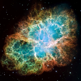 Light from the Crab Nebula (shown here in a Hubble Space Telescope photo) limits the possibilities for fluid spacetime. NASA/ESA/ASU/J. Hester