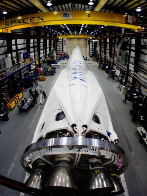 A planned launch of a Falcon 9 rocket Sunday evening was delayed to allow time for more tests on one of Orbcomm Inc.'s satellites.(Photo: FOR FLORIDA TODAY)