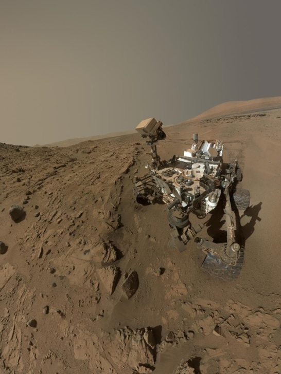 NASA's Mars Curiosity Rover captures a selfie to mark a full Martian year — 687 Earth days — spent exploring the Red Planet. (NASA/JPL-Caltech/MSSS)