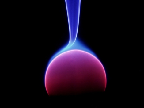 Energy Arc, central electrode of a Plasma Lamp.