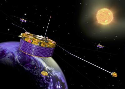 The study has been carried out with data from the four Cluster satellites.  (Photo Credit: Image: ESA)