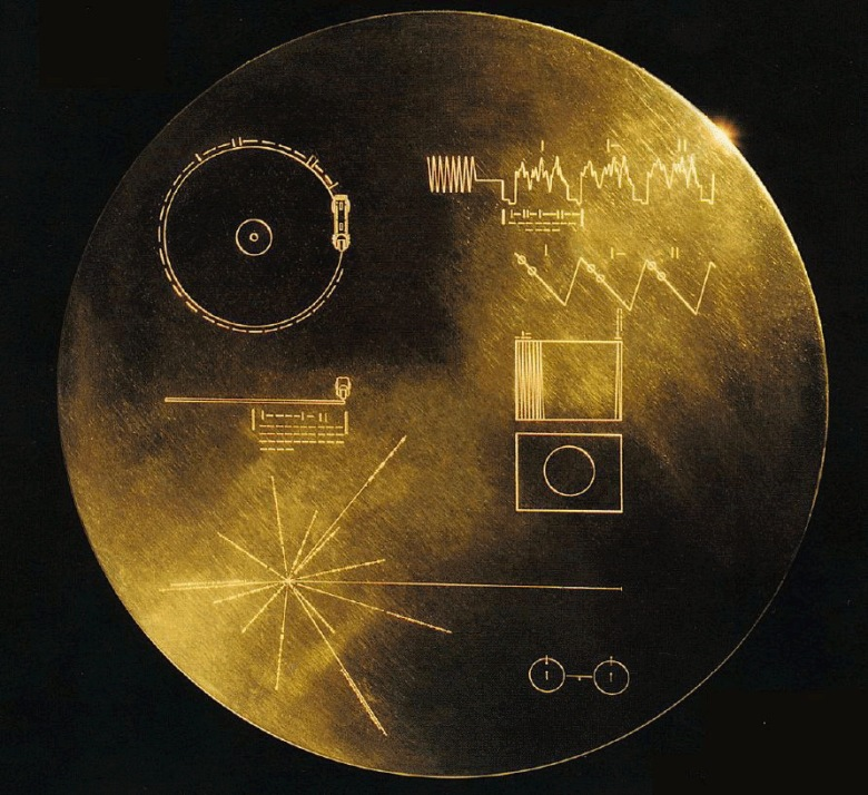 The Golden Record carried a message from Earth on board NASA's Voyager 1 and Voyager 2 missions. (Credit: NASA)
