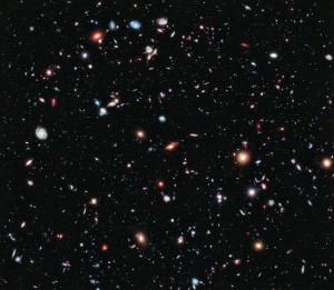 Hubble Space Telescope image. (Credit: NASA, ESA, G. Illingworth, D. Magee, and P. Oesch (University of California, Santa Cruz), R. Bouwens (Leiden University), and the HUDF09 Team)