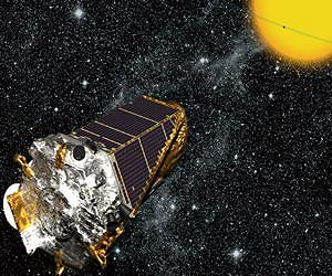 Artist's impression of the Kepler telescope. Image courtesy NASA, Ames, JPL-Caltech.