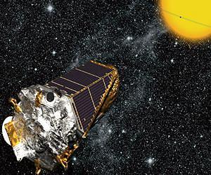 Artist's impression of the Kepler telescope. Image courtesy NASA, Ames, JPL-Caltech.