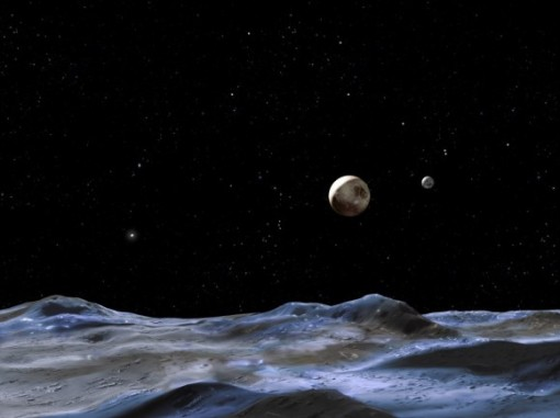 Artist impression of Pluto and Charon (NASA)