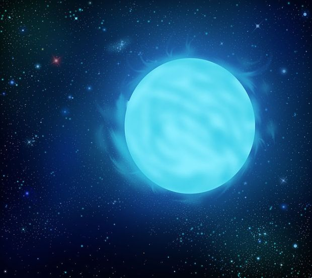 Illustration of Wolf-Rayet star R136a1, the most massive star known. (Credit: Wikipedia)