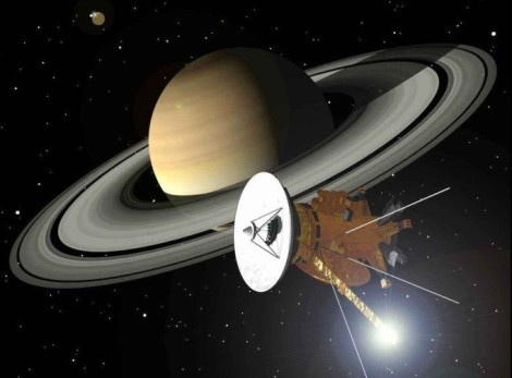 Cassini has uncovered a trove of exciting scientific information by discovering new moons of Saturn, exploring the jetting geysers of Enceladus, and studying the bizarre polar hexagon at Saturn's north pole. (Credit: NASA)