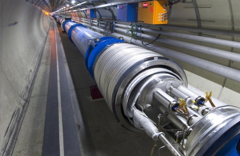 A method to correct tiny defects in the LHC's superconducting magnets (example shown above) was crucial to the discovery of the Higgs boson, which was announced in 2012. (Credit: CERN)