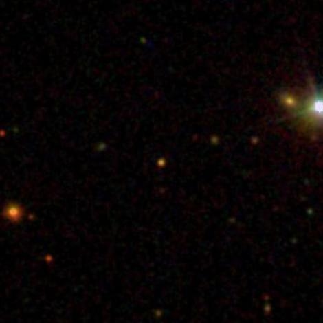 ULAS J0015+01 at the center of the photo. (Credit: NASA)