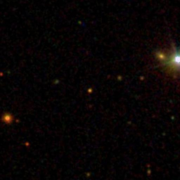 ULAS J0015+01 at the center of the photo. (Credit: NASA)
