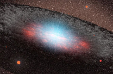One of the most enduring mysteries behind the dynamics of supermassive black holes, and their impacts on galactic evolution, has been uncovered by an international team of astrophysicists. (Credit: NASA)