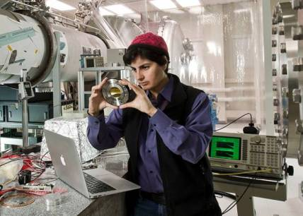 Nergis Mavalvala (pictured) aims to detect elusive gravitational waves. (Credit: Len Rubenstein)