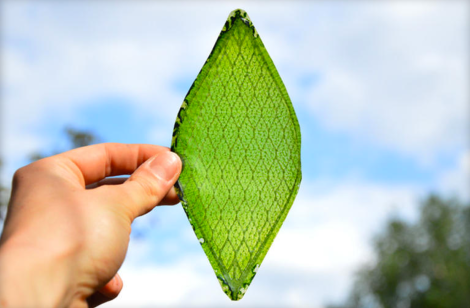 This man-made leaf could help us breathe in space. (Credit: Julian Melchiorri/Dezeen/MINI)