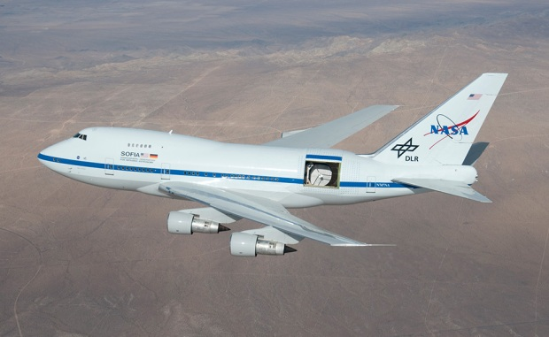 By sticking a 17-ton telescope into a Boeing 747, you can launch it up to 45,000 feet and get past 99 percent of our atmosphere's water vapor