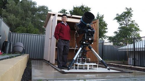 Perth engineer 'TG' Tan hunts planets with his backyard observatory in Mt Claremont. (Credit: TG Tan)