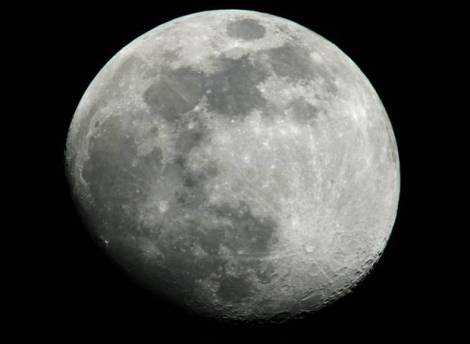 A new accurate map of the Moon has shown that it bulges slightly at one side and is flattened at the top and bottom - but how did it get this way? (Credit: NASA)