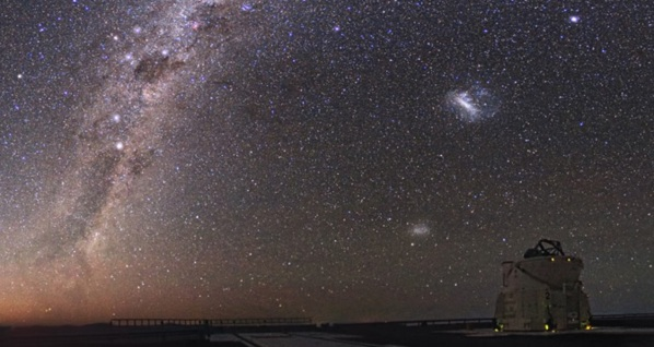 The Milky Way is bit of a barrier between us the extra-galactic universe. (Credit: NASA, CC BY)