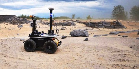 "Clearpath Robotics ""Husky,"" an autonomous vehicle. (Credit: Clearpath Robotics)"