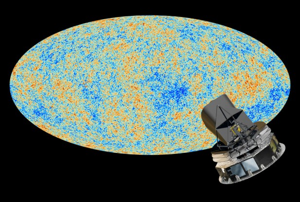 The anisotropies of the Cosmic microwave background (CMB) as observed by Planck. The CMB is a snapshot of the oldest light in our Universe, imprinted on the sky when the Universe was just 380 000 years old. It shows tiny temperature fluctuations that correspond to regions of slightly different densities, representing the seeds of all future structure: the stars and galaxies of today. (Credit: ESA and the Planck Collaboration - D. Ducros)