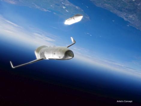 "DARPA's hypothetical ""space plane."" (Credit: DARPA)"