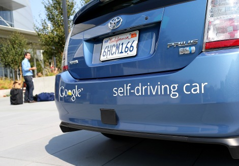 Google Inc. has conducted more than 300,000 miles of driverless car testing with vehicles. They navigate by collecting real-time sensor data and comparing it to pre-loaded maps that specify exact locations for roads and signs, while adapting to obstacles such as people and cars. (Credit: Justin Sullivan/Getty Images, Kearns)