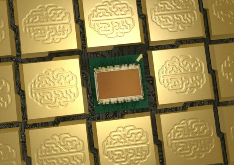 IBM's new TrueNorth chip. (Credit: IBM)