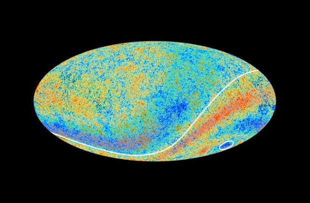 The European Space Agency's Planck space telescope mapped the cosmic microwave background. (Credit: ESA and the Planck Collaboration)