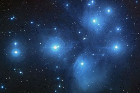 New measurements have found the Pleiades open star cluster is 443 light years from Earth (Credit: NASA/ESA/AURA/Caltech/Palomar Observatory)