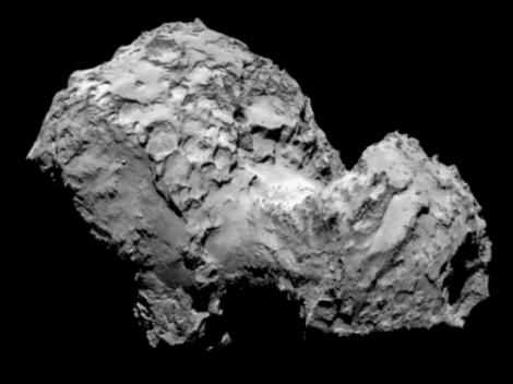 Do you see a duck?  On August 6, millions of miles away from Earth, the firing of a rocket thruster signalled the end of a decade-long journey by a European spacecraft to reach its ultimate target – the 'duck' comet. (Credit: ESA/Rosetta/MPS)