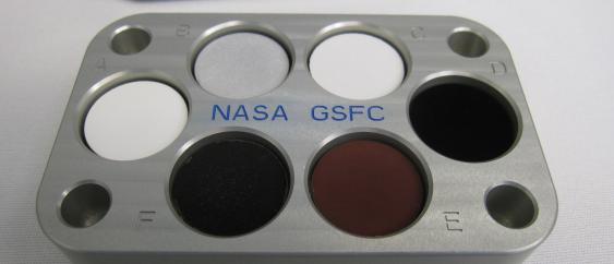 On July 29th, the the Automated Transfer Vehicle launched carrying samples of the stuff to the ISS, where it docked on August 12th. There, astronauts will conduct tests on the paint, which absorbs 99.5 percent of visible light (and 99.8 percent of longer wavelength light). (Credit: NASA, Campbell-Dollaghan)