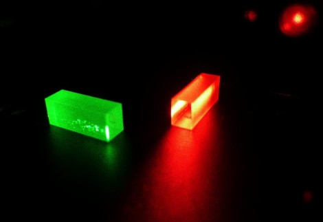 Crystals which contain photonic information after the teleportation. (Credit: Copyright GAP, University of Geneva (UNIGE))