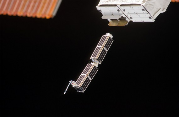 Two tiny satellites escaping on their own doesn't sound too bad … except it's not the first time this has happened. On August 23rd, NASA reports that two other CubeSats set themselves free. OK, 4 out of 100 doesn't sound too bad either … except only 12 have been launched so far, which means a quarter of the CubeSats un-tethered themselves. (Credit: NASA)