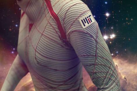 The MIT BioSuit, a skintight spacesuit that offers improved mobility and reduced mass compared to modern gas-pressurized spacesuits. (Credit: Jose-Luis Olivares/MIT)