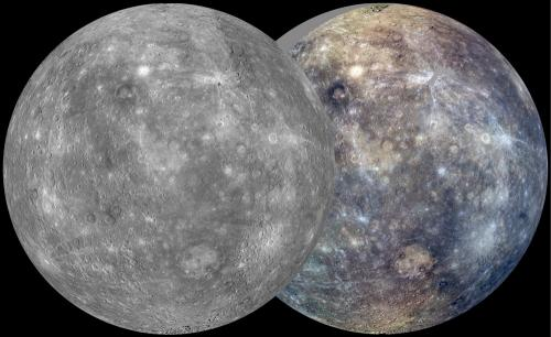 On Mercury a solar day is about 176 Earth days long. During its first Mercury solar day in orbit the MESSENGER spacecraft imaged nearly the entire surface of Mercury to generate a global monochrome map at 250 meters per pixel resolution and a 1 kilometer per pixel resolution color map. (Credit: NASA/JHU APL/CIW)
