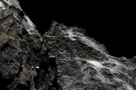 The lonely landscape of Rosetta's comet