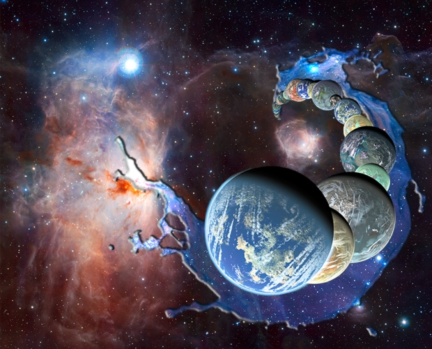 Planets form in the presence of abundant interstellar water inherited as ices from the parent molecular cloud. (Credit: NASA/JPL-Caltech/R. Hurt (SSC-Caltech)/ESO/J. Emerson/VISTA/Cambridge Astronomical Survey Unit)