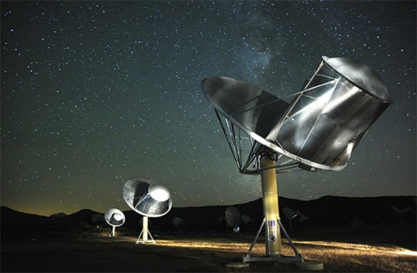 The SETI Institute's Allen Telescope Array (ATA) is hunting for radio signals from hypothetical intelligent alien life in our galaxy. (Credit: SETI) Institute