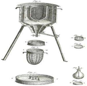 The world's first ice-calorimeter, used in the winter of 1782-83, by Antoine Lavoisier and Pierre-Simon Laplace, to determine the heat involved in various chemical changes. (Credit: Wikipedia)