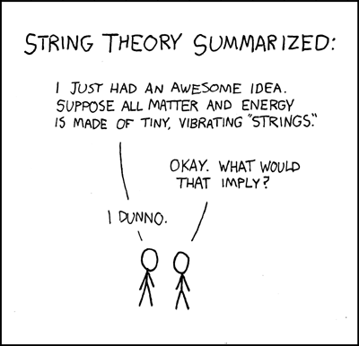 Is String Theory in trouble?(Credit: xkcd.com)
