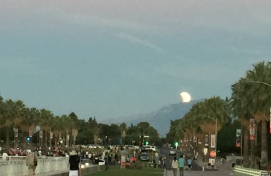 Supermoon from the University of Arizona, Tucson. AZ.