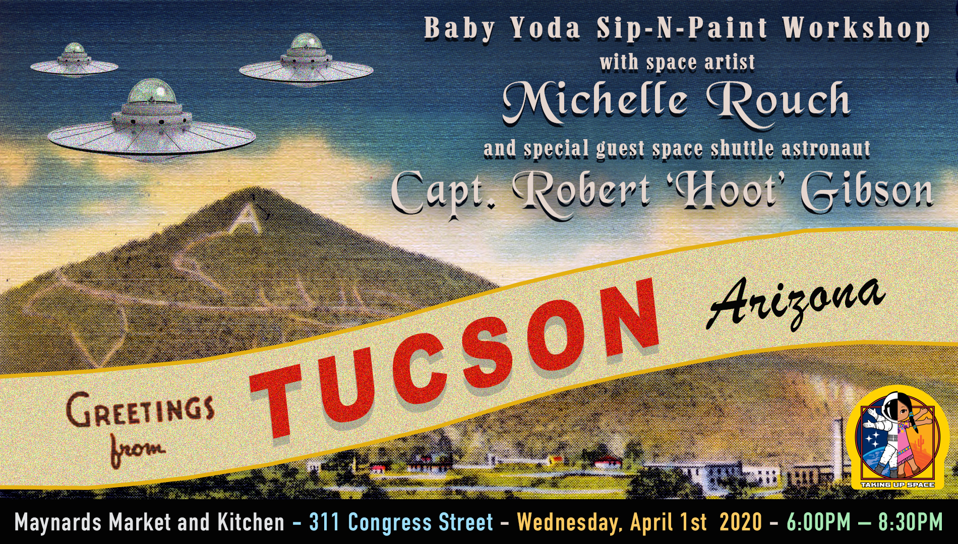 Baby Yoda Paint-N-Sip Fundraiser with an Astronaut!